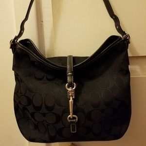 Coach canvas purse with leather small
